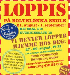 LOPPIS på Bolteløkka skole - plakat